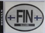 Finland Country Flag Oval Decal.